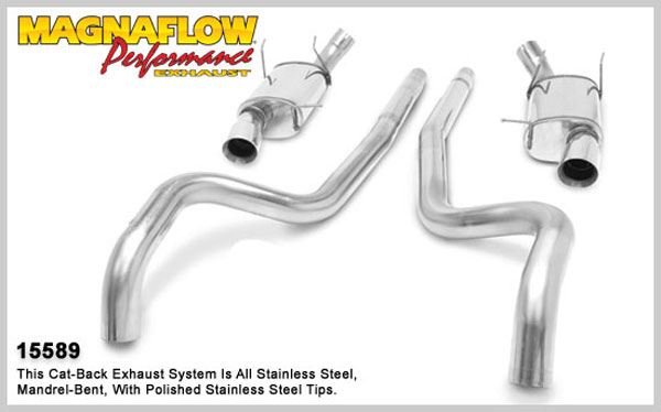 Magnaflow 15589:  Exhaust System for 2011 Ford Mustang 5.0L stre V8