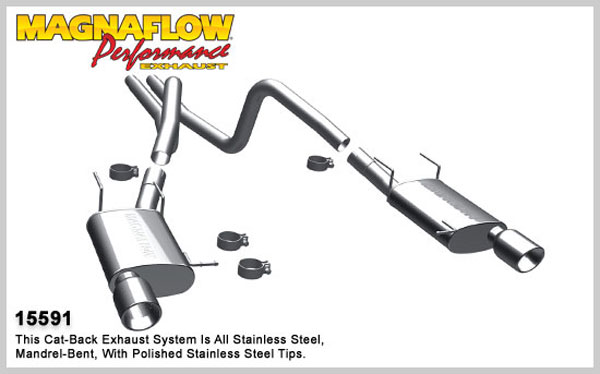 Magnaflow 15591:  Exhaust System for 2011 Ford Mustang 3.7L stre V6