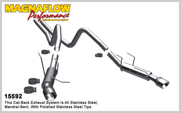 Magnaflow 15592:  Exhaust System for 2011 Ford Mustang 3.7L comp V6