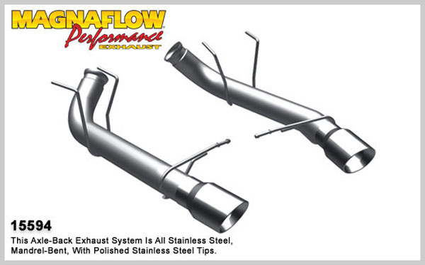 Magnaflow 15594:  Exhaust System for A/B 2011 Ford Mustang 5.0L/5.4L comp V8