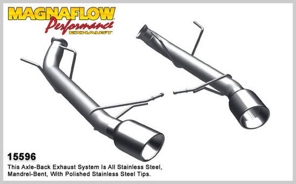 Magnaflow 15596:  Exhaust System for A/B 2011 Ford Mustang 3.7L comp V6