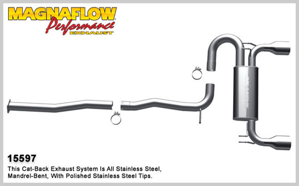 Magnaflow 15597:  Exhaust System for 2009- Mitsubishi Lancer Ralli 2.0T