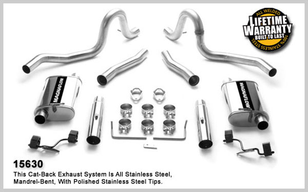 Magnaflow 15630:  Exhaust System for FORD MUSTANG V8 1986-1993