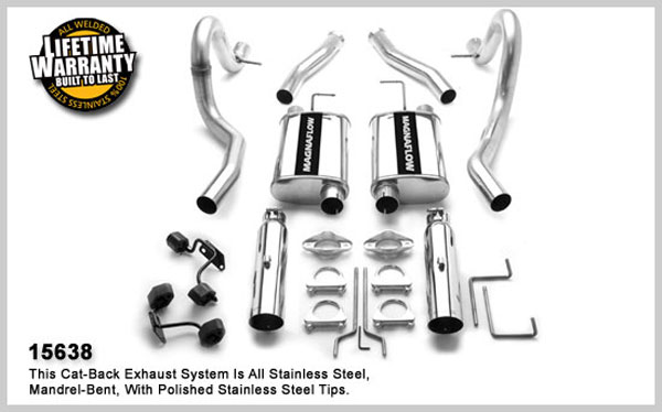 Magnaflow 15638:  Exhaust System for FORD MUSTANG V8 1994-1998