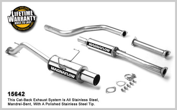 magnaflow 15642  exhaust system for honda civic dx 1996