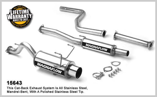 magnaflow 15643  exhaust system for honda civic cx 1992