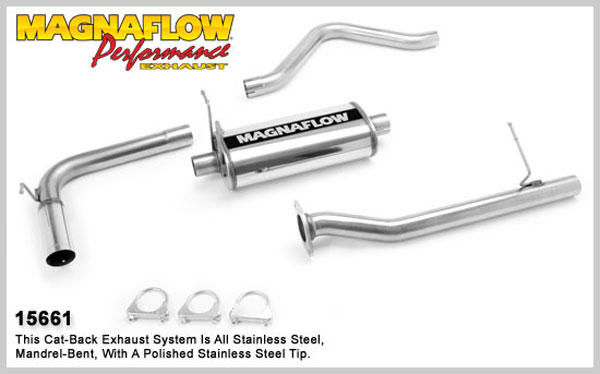 Magnaflow 15661:  Exhaust System for GM S10/SONOMA 2000-2003 4.3L EC Single Side Exit
