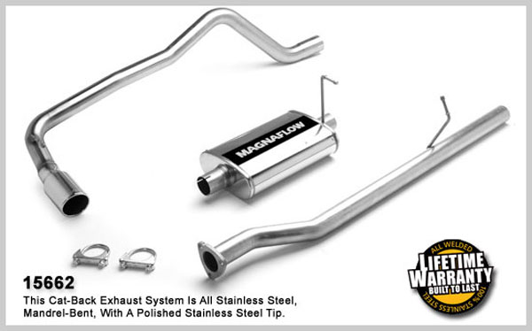 Magnaflow 15662:  Exhaust System for GM S10/SONOMA 1998-2003 2.2L EC Single Side Exit