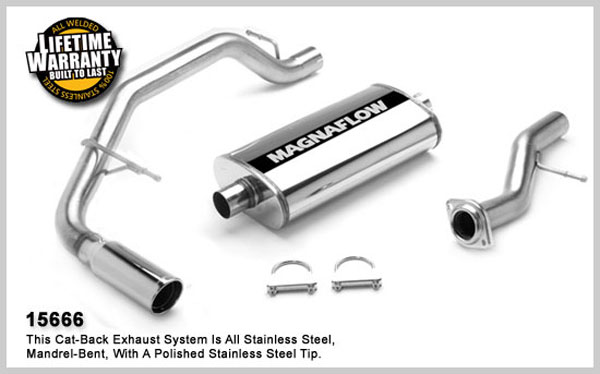 Magnaflow 15666:  Exhaust System for GM ESCALADE 2002-05 TAHOE/YUKON 4.8L 5.3L 2002-06 Single Side Exit