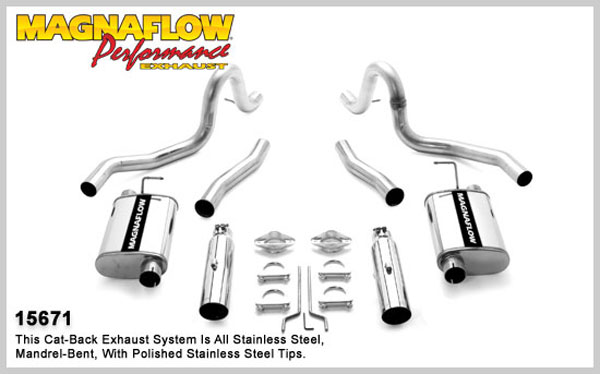 Magnaflow 15671:  Exhaust System Mustang GT 99-04 V8