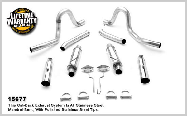 Magnaflow 15677:  Exhaust System for FORD MUSTANG V8 1994-1998
