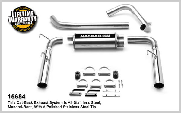 Magnaflow 15684:  Catback 3.5 inch slash tips Firebird 1998-02 LS1 V8