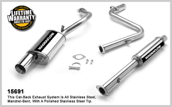 Magnaflow 15691:  Exhaust System for Eclipse / Talon Non-Turbo 1995-