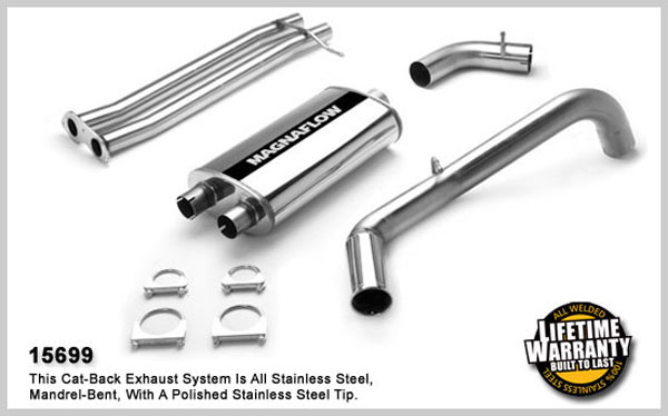 Magnaflow 15699:  Exhaust System for GM C1500 SUBURBAN 1996-1999