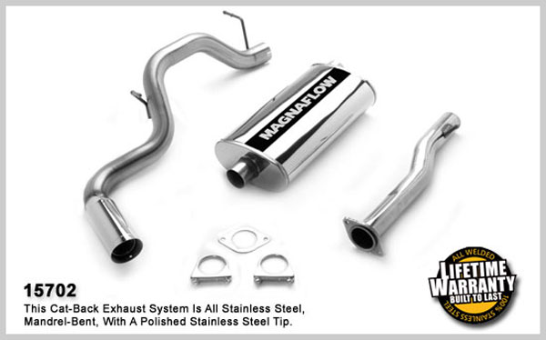 Magnaflow 15702:  Exhaust System for GM TAHOE/YUKON 1996-1999 5.7L Single Side Exit 5 x 11 x 22in. Single Inlet Muffler; 3.0in. Tubing