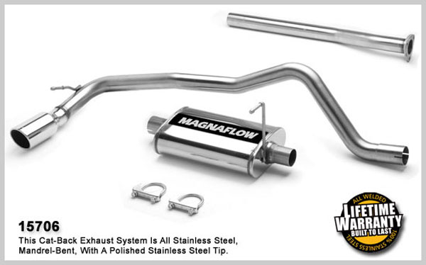 Magnaflow 15706:  Exhaust System for GM S10/SONOMA 1998-2003 2.2L SC Single Side Exit
