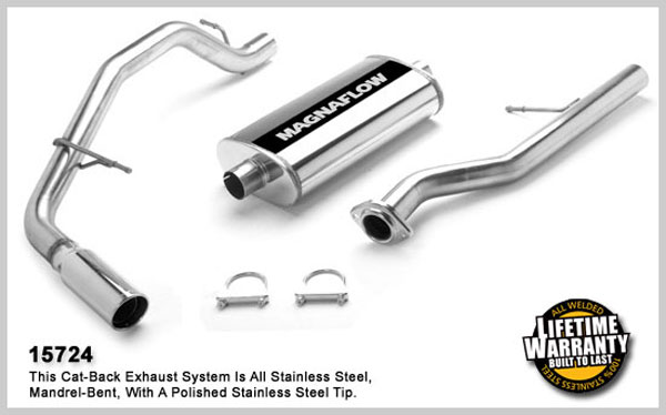 Magnaflow 15724:  Exhaust System for GM AVALANCHE 1500 2002-2006 5.3L Single Side Exit