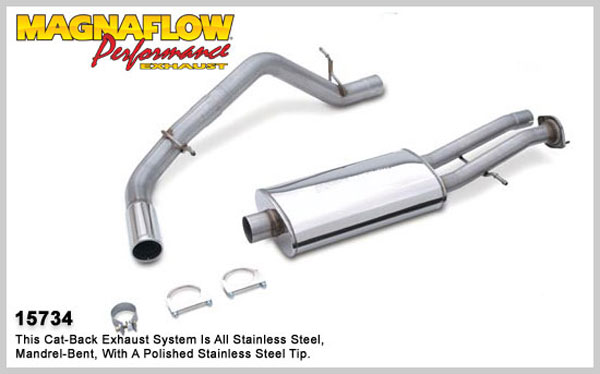 Magnaflow 15734:  Exhaust System for GM ESCALADE YUKON Denali 2002-2006 6.0L Single Side Exit
