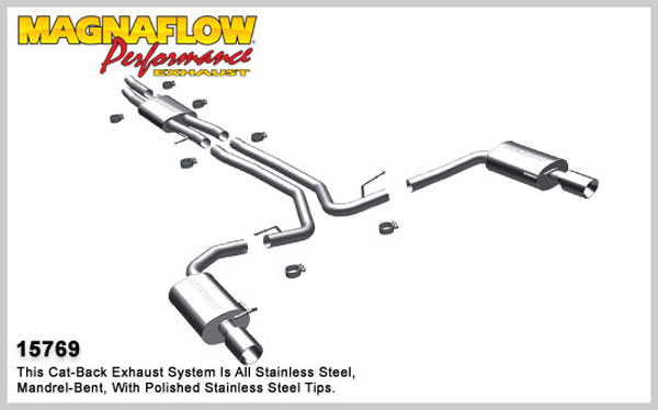 Magnaflow 15769:  Exhaust System for 2010 Ford Taurus SHO 3.5L T