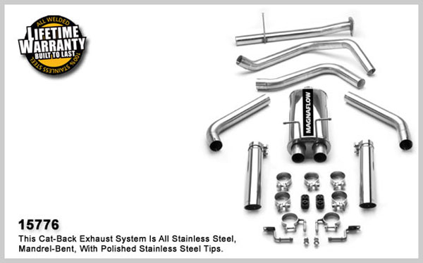Magnaflow 15776:  Exhaust System for GM S10/SONOMA 1998-1999 4.3L EC Dual Split Rear Exit