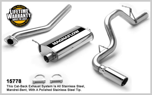 Magnaflow 15778:  Exhaust System for GM SILVERADO/SIERRA 1500 2003-2007 Classic 4.3L 4.8L 5.3L EC/ShrtB Single Side Exit