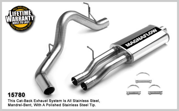 Magnaflow 15780:  Exhaust System for GM SILVERADO/SIERRA 2500 2001-2002 6.0L EC 96in Bed Single Side Exit