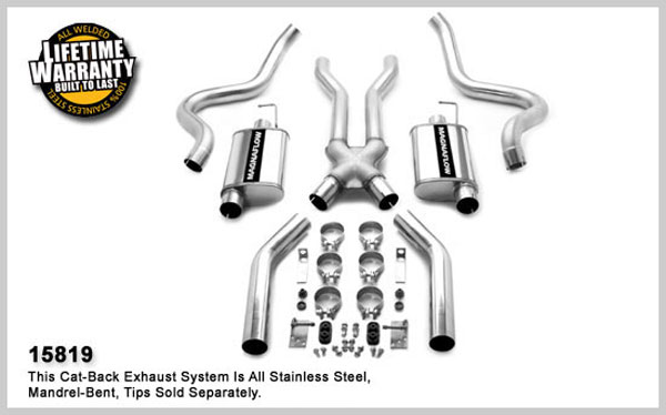 Magnaflow 15819:  Exhaust System for FORD MUSTANG V8 1967-1970