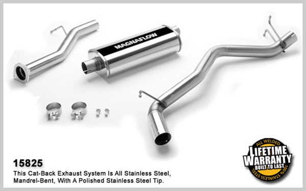 Magnaflow 15825:  Exhaust System for GM S10/SONOMA 2001-2004 4.3L CC 55inc Bed Single Side Exit