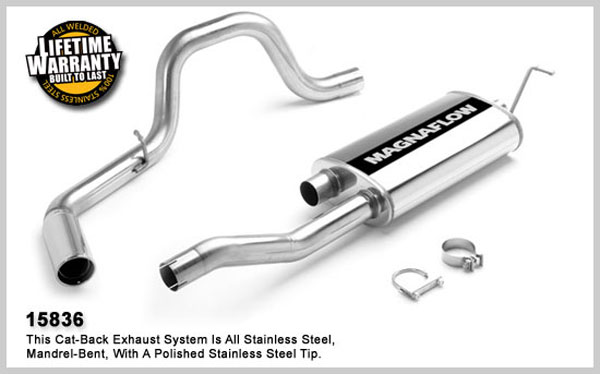Magnaflow 15836:  Exhaust System for GM AVALANCHE 2500 2002-2006 8.1L Single Side Exit
