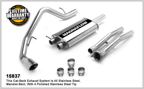 Magnaflow 15837:  Exhaust System for GM ESCALADE- ESV, EXT / YUKON DENALI XL 6.0L 2003-2006 Single Straight Rear Exit