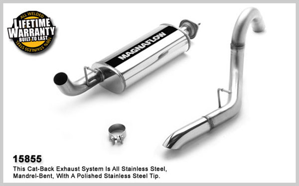Magnaflow 15855:  Exhaust System for JEEP TRUCK WRANGLER 2000-2006