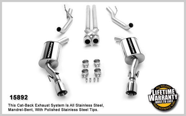 Magnaflow 15892:  Exhaust with Tru-X crossover-pipe 2005-06 GTO