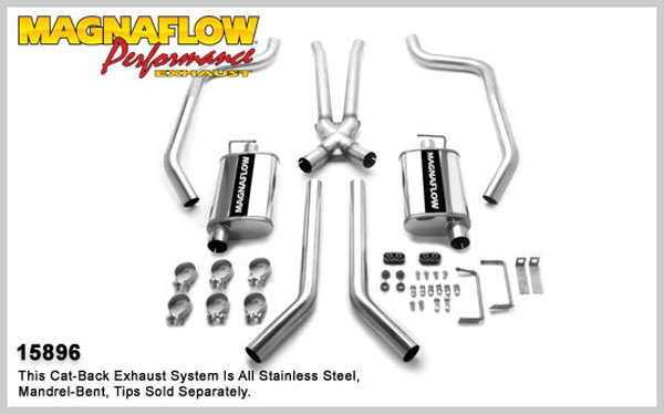 Magnaflow 15896:  Exhaust System for FIREBIRD V8 1967-1973