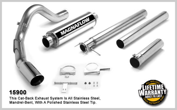 Magnaflow 15900:  Exhaust System for FORD 7.3L POWERSTROKE DIESEL, 4in SYSTEM 1999-2003