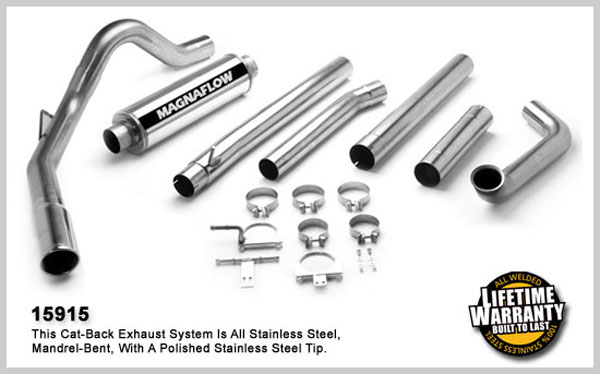Magnaflow 15915:  Exhaust System for FORD 7.3L POWERSTROKE DIESEL, 4in SYSTEM 1999-2003
