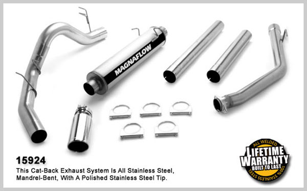 Magnaflow 15924:  Exhaust System for DODGE CUMMINGS DIESEL 4 IN. CLUB CAB 1998-2002