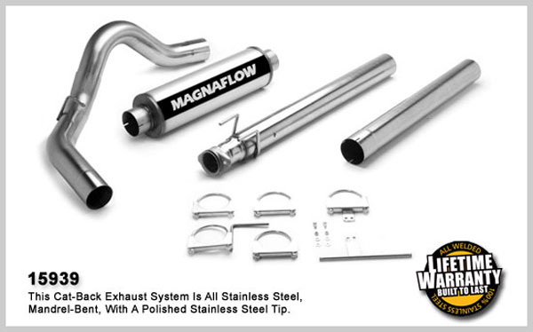 Magnaflow 15939:  Exhaust System for FORD 7.3L POWERSTROKE DIESEL, 4in SYSTEM SUPER CAB 1994-1997