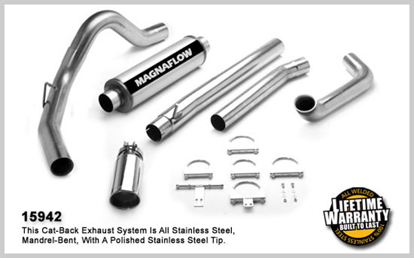 Magnaflow 15942:  Exhaust System for FORD 7.3L EXCURSION POWERSTROKE DIESEL 2000-2003