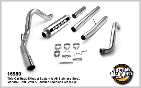 Magnaflow 15950:  Exhaust System for FORD 6.0L POWERSTROKE DIESEL, 4in. SYSTEM 2003-2007