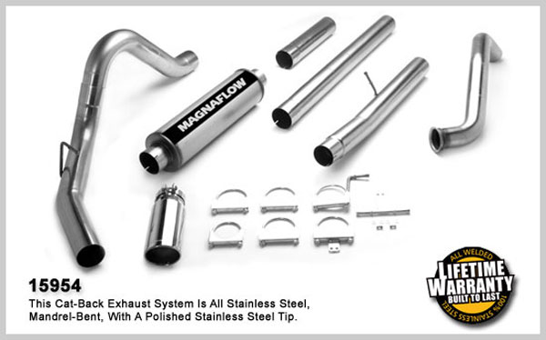 Magnaflow 15954:  Exhaust System for FORD 6.0L POWERSTROKE DIESEL, 4in. SYSTEM 2003-2007