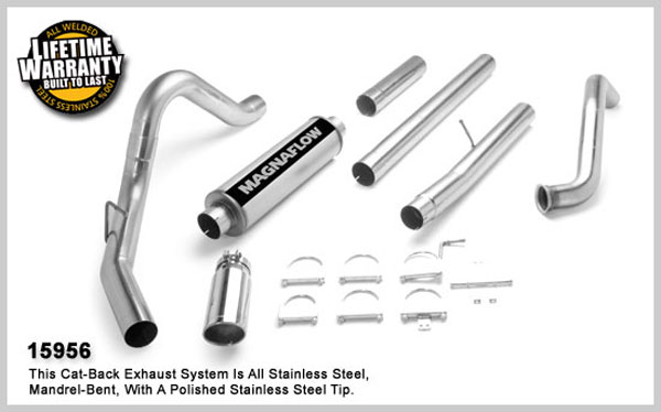 Magnaflow 15956:  Exhaust System for FORD 6.0L POWERSTROKE DIESEL, 4in. SYSTEM 2003-2007