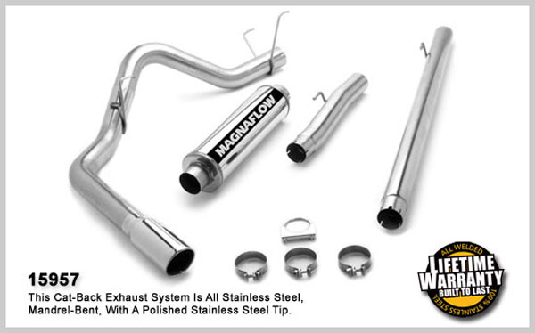 Magnaflow 15957:  Exhaust System for DODGE CUMMINGS DIESEL 4 IN. 2003-2004