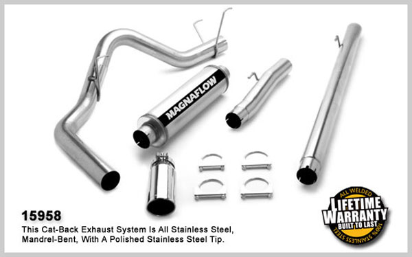 Magnaflow 15958:  Exhaust System for DODGE CUMMINGS DIESEL 4 IN. 2003-2004