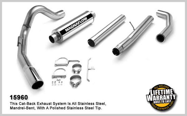 Magnaflow 15960:  Exhaust System for FORD 6.0L EXCURSION POWERSTROKE DIESEL 2003-2005