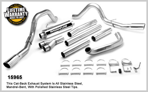 Magnaflow 15965:  Exhaust System for FORD 7.3L POWERSTROKE DIESEL, 4in SYSTEM 1999-2003