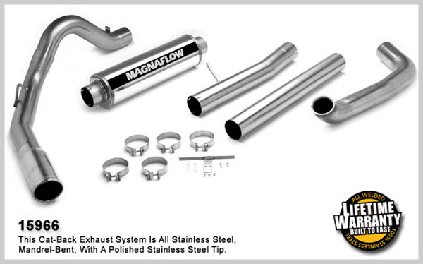 Magnaflow 15966:  Exhaust System for FORD 7.3L EXCURSION POWERSTROKE DIESEL 2000-2003