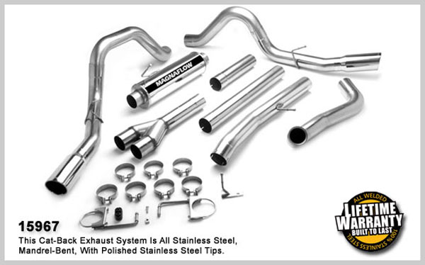 Magnaflow 15967:  Exhaust System for 2003- FSer 6.0L DSL Duals CC