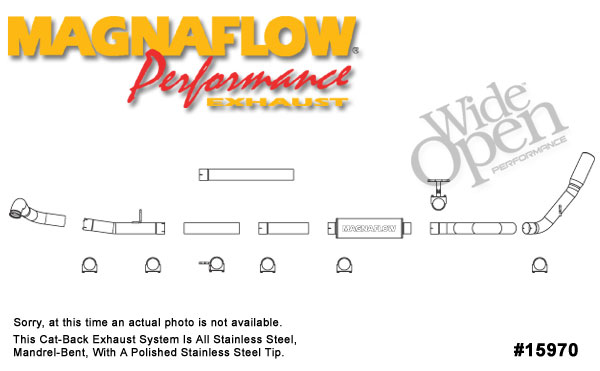 Magnaflow 15970:  Exhaust System for FORD 7.3L POWERSTROKE DIESEL, 4in SYSTEM 1999-2003