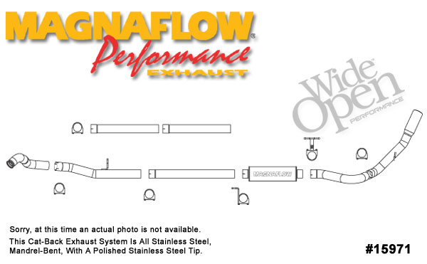 Magnaflow 15971:  Exhaust System for FORD 6.0L POWERSTROKE DIESEL, 4in. SYSTEM 2003-2004