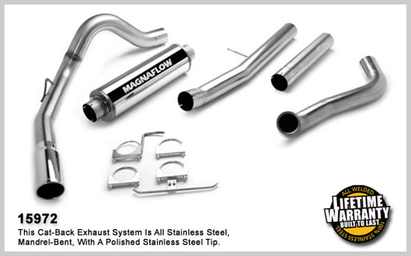 Magnaflow 15972:  Exhaust System for FORD 6.0L EXCURSION POWERSTROKE DIESEL 2003-2005